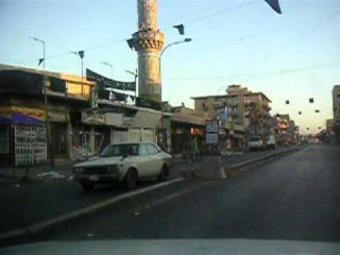 Baghdad, Iraq, Downtown streets, car ride spring 2004