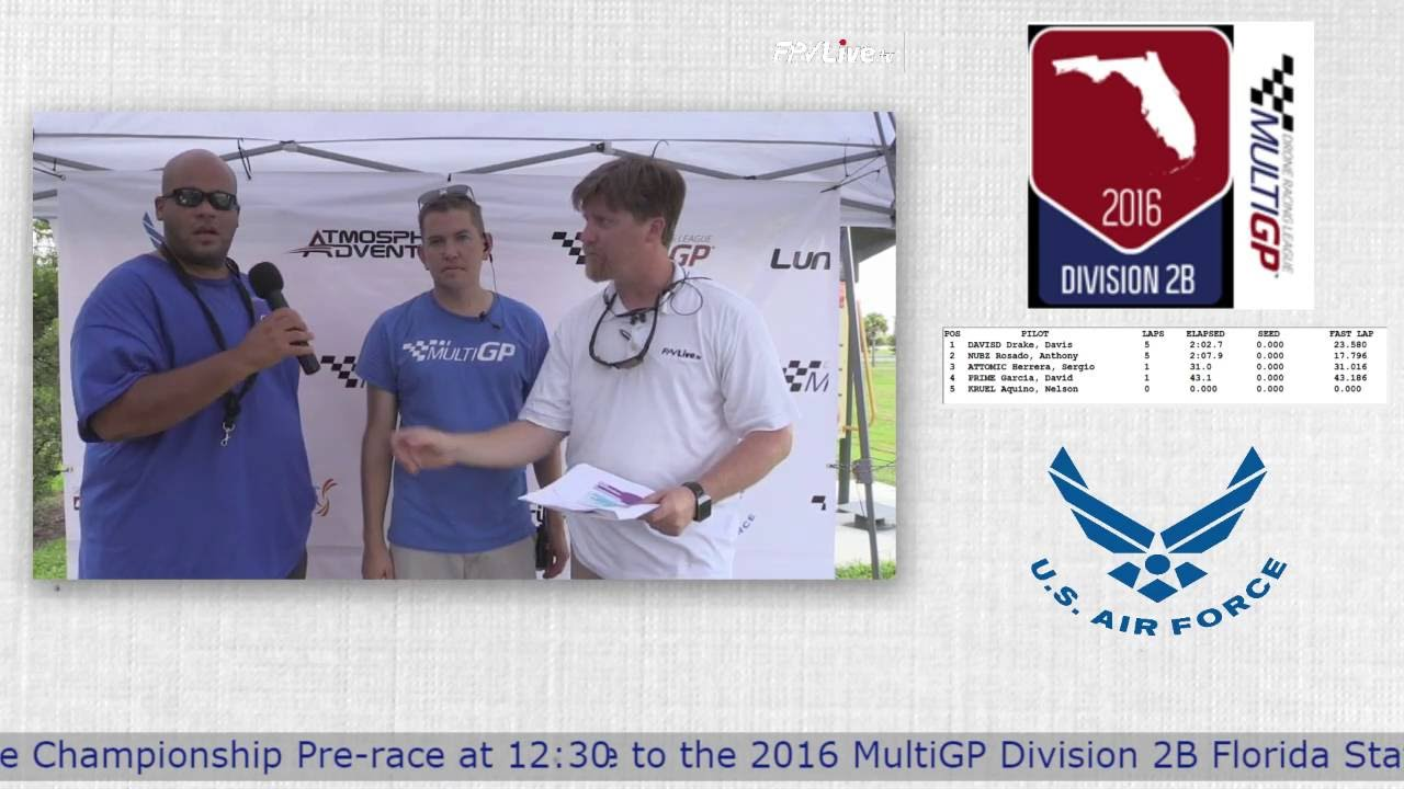 Drone Racing at The 2016 MultiGP Division 2B Florida Finals