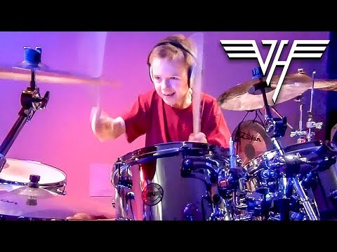 """I'm The One, Van Halen"" Avery Molek, 7 year old Drummer"