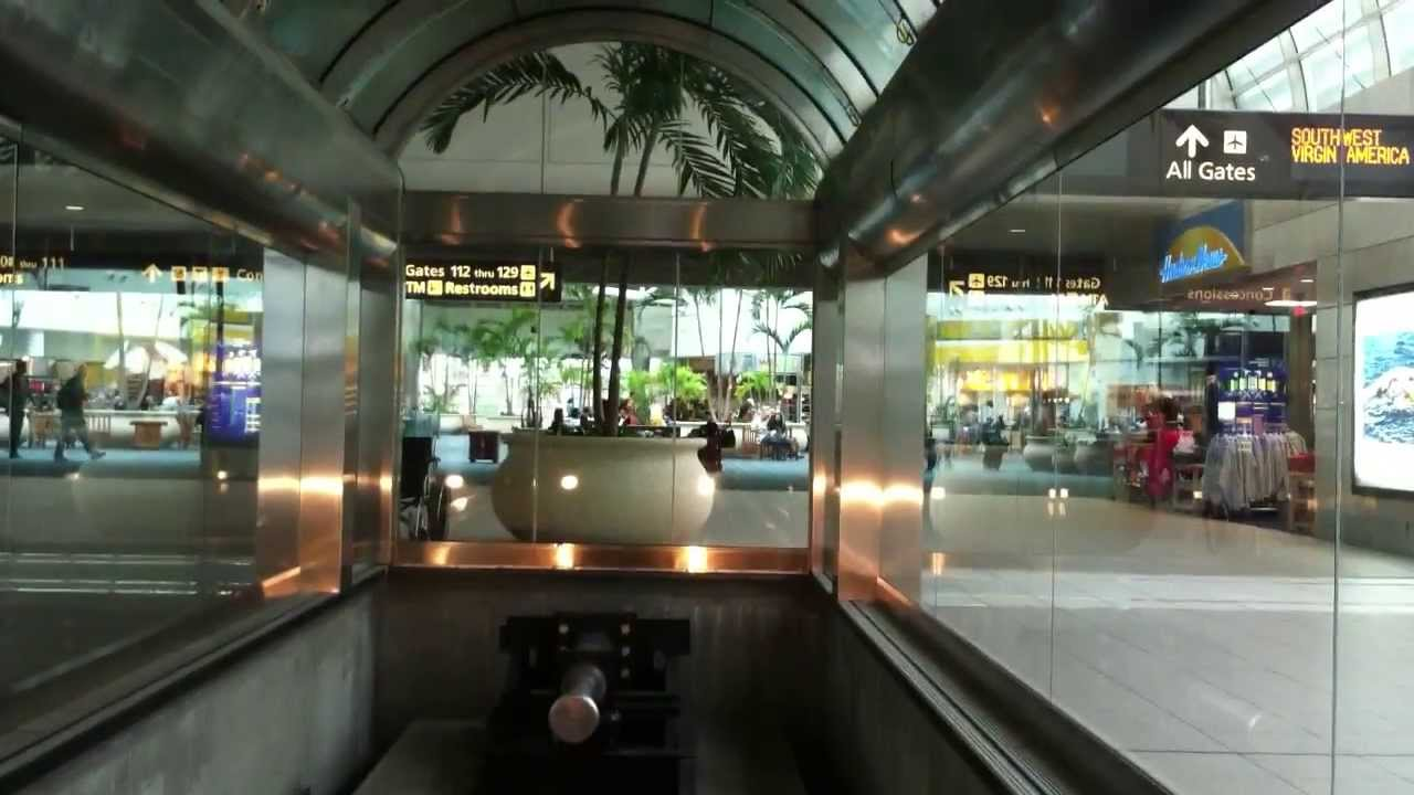 Orlando International Airport (MCO) shuttle to Gates 100-129 - YouTube