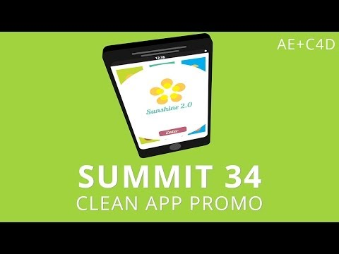 Summit 34 - Clean App Promo - After Effects