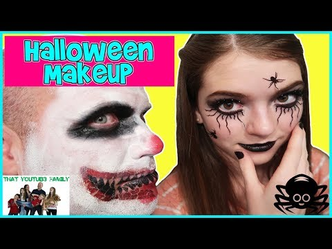 Thumbnail: Trying HALLOWEEN MAKEUP KITS! Are They Worth It? / That YouTub3 Family
