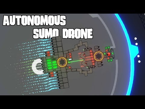 Automatic Sumo Drone Wrestling | NIMBATUS - The Space Drone Constructor Gameplay