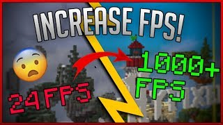 How To DRAMATICALLY Improve Your FPS In Minecraft! ANY VERSION!!! (Updated 2019 Tutorial)