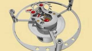 3D animation of a flying tourbillon by Glashutte Original http://ww...