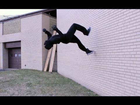 Ninja Runs Up a Wall!
