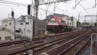 南海高野線北野田駅 6000系(6029+6033+6031編成) 快急なんば行 停車