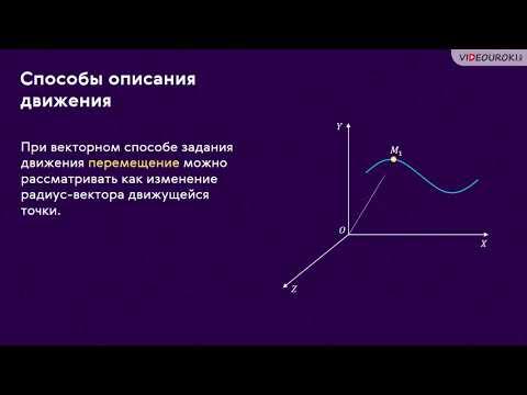Способы описания движения. Траектория. Путь. Перемещение