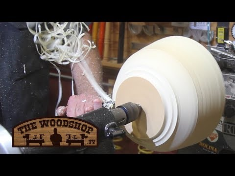 Turning Wet Wood / Turning a bowl from fresh cut wood