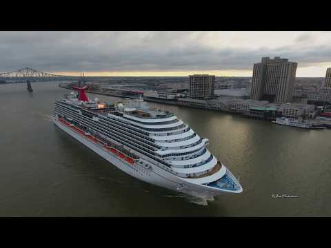 DJI Phantom 4 chasing the Carnival Dream