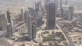 Burj Khalifa Dubai Video vom 124 Stock über Dubai höchster Turm der Welt