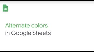 How To: Alternate colors on your spreadsheet in Google Sheets