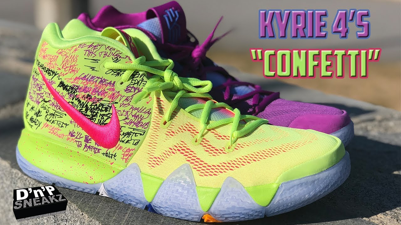 buy popular a83ed 28df8 UNBOXING: Kyrie 4's Confetti