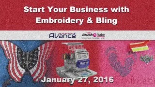 Start Your Business with Embroidery and Bling | Embroidery Machine and Rhinestone Transfer System