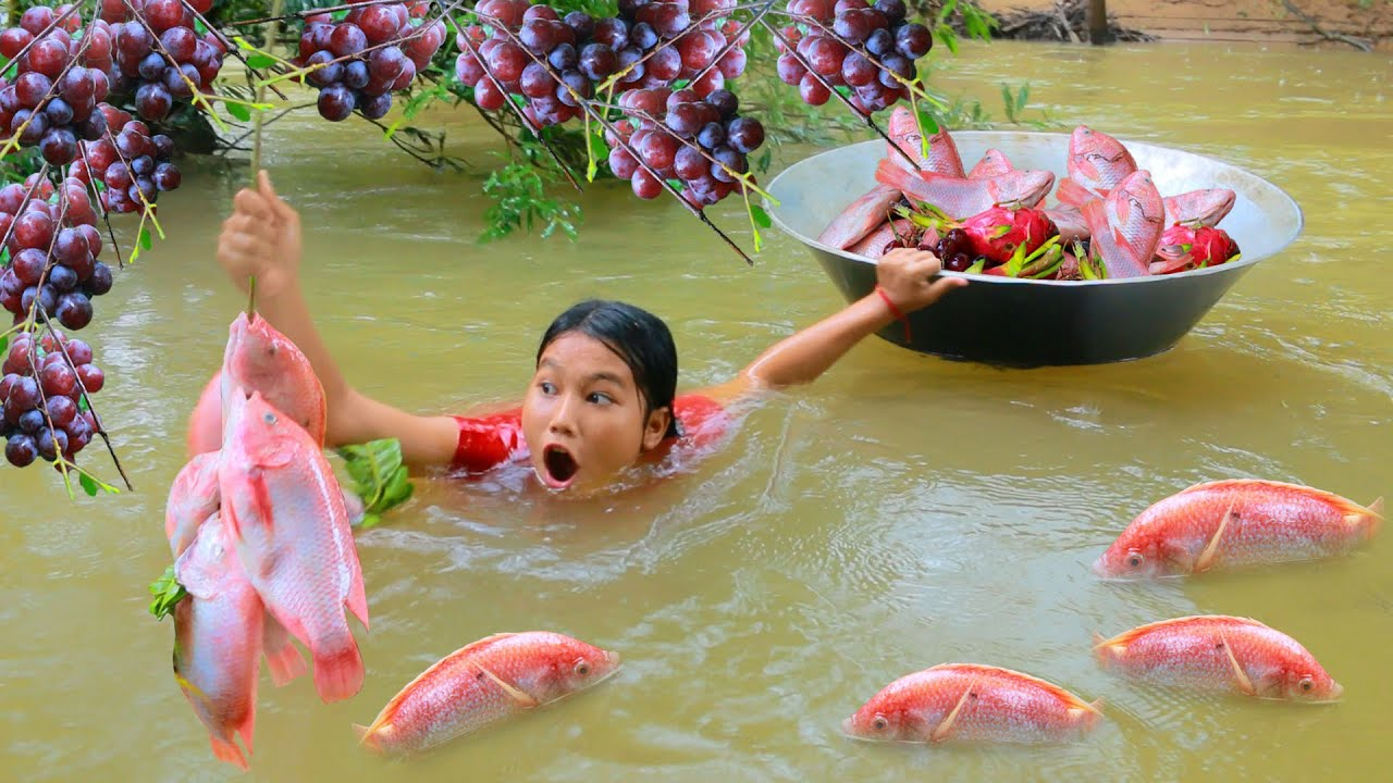 Awesome Women Find Red fish Meet natural grape - Roast fish with spicy chili for dog