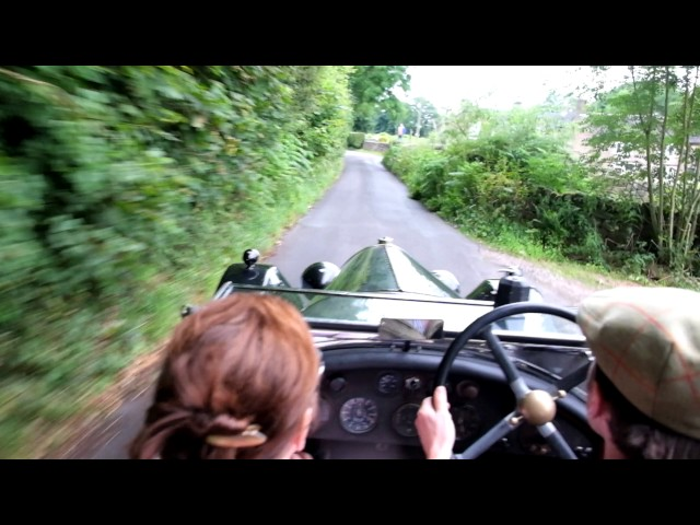 Oakamoor Hill Climb Revival - 3 litre Bentley on board footage
