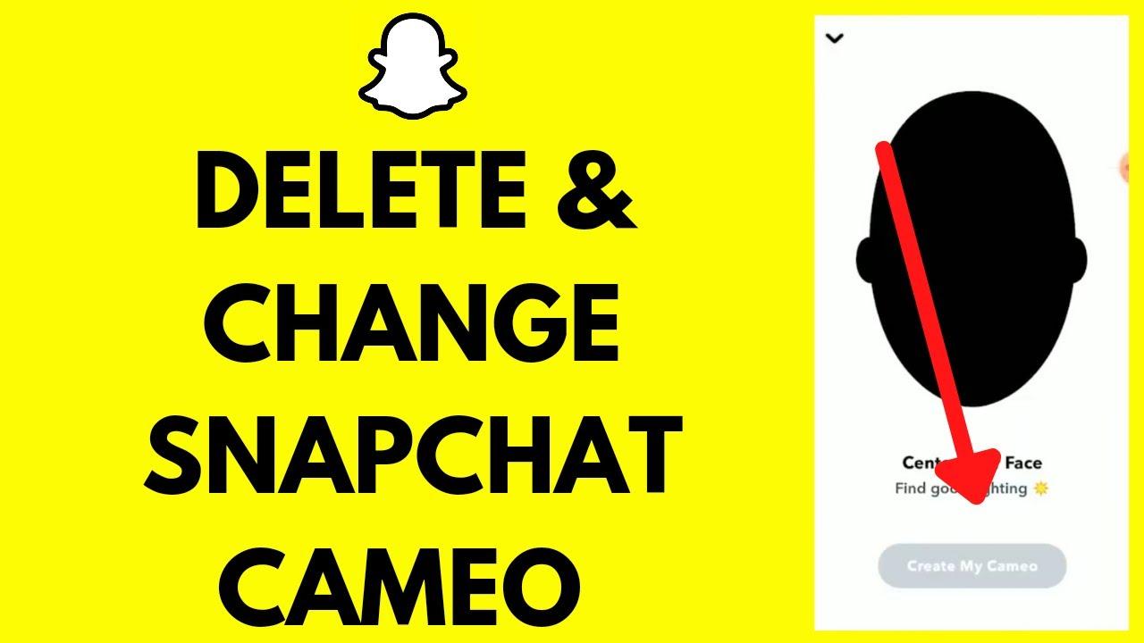 How To Delete & Change Snapchat Cameo (Quick & Easy!)  Remove