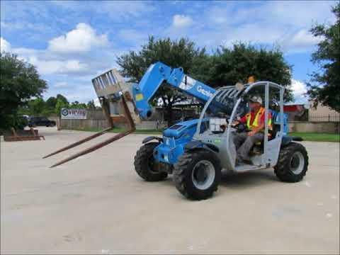 Sold! 2008 Genie GTH-5519 5.5K Compact Reach Forklift Telehandler bidadoo.com