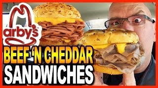 Arby's ★ Large Beef 'N Cheddar & Onion Rings Meal Review & Drive Thru Test thumbnail