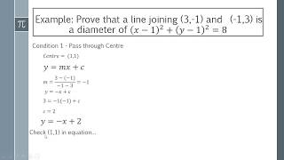 How to Show tнat a Line is a Diameter of a Circle