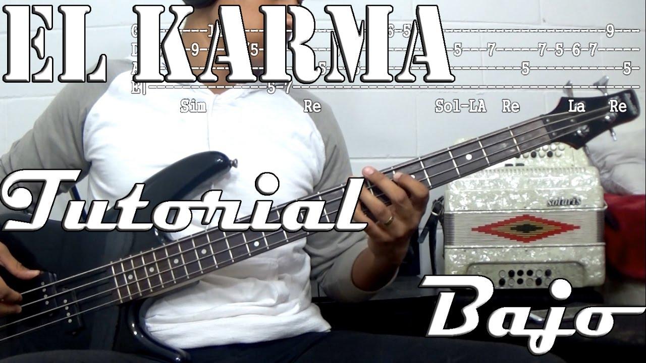 Tutorial : El karma : Ariel Camacho : Bajo : TABS - YouTube