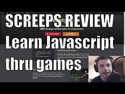 Screeps Game REVIEW - Learn JavaScript By Playing - Educational MMO (Math/Programming)