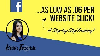How To Drop Your Fb Ad Cost To As Low As .06 Per Website Click With Targeted Audience