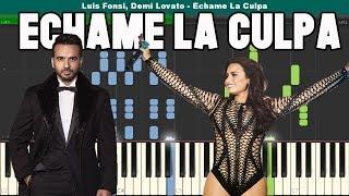 Echame La Culpa Piano Tutorial - Free Sheet Music (Luis Fonsi & Demi Lovato)