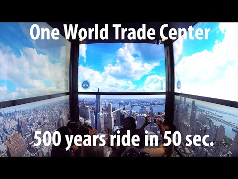 One World Observatory at World Trade Center - Elevator Ride (GoPro4)