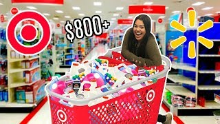 Shopping for Slime Supplies at Target + Walmart! i bought all their glue..