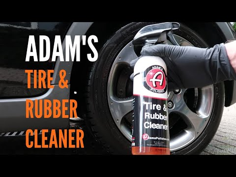 How To Clean Your Car Tires with Adam's Tire & Rubber Cleaner (ASMR)