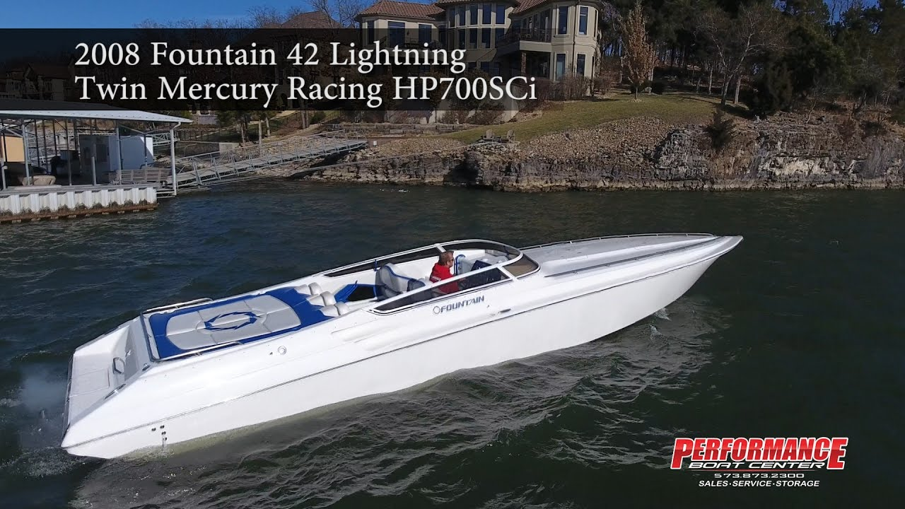 2008 Fountain 42 Lightning Performance Boat Center - YouTube