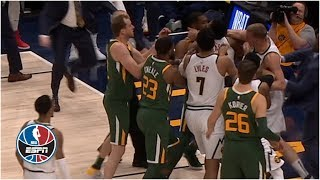 Scuffle in Nuggets vs. Jazz, Derrick Favors and Mason Plumlee ejected | NBA Highlights
