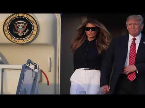 Melania Trump visits Japanese garden with Akie Abe