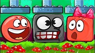ЗОМБИ ПРЕВРАТИЛИ КРАСНЫЙ ШАР В КВАДРАТ Несносный Шарик Plants vs zombies Red Ball 4 Мультик дети
