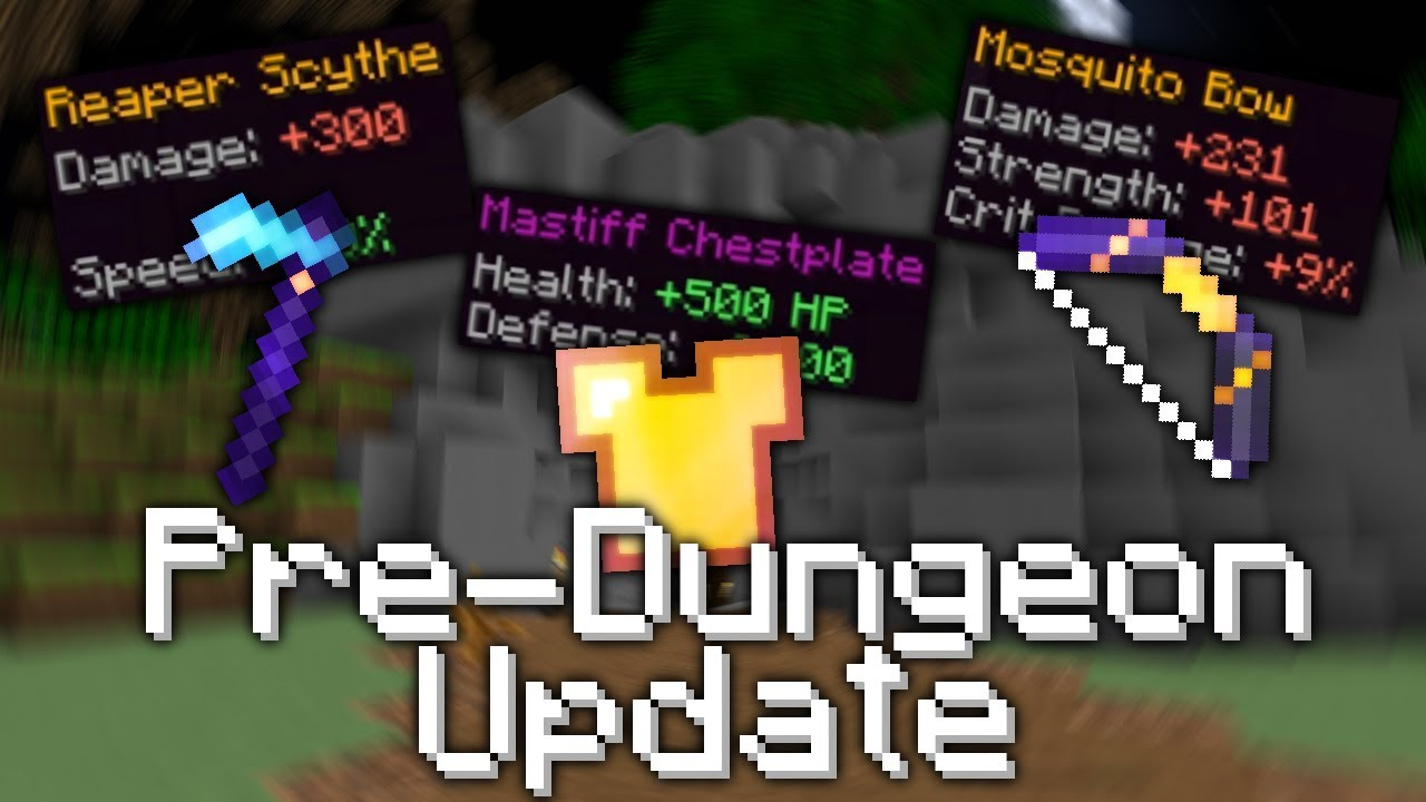 Hypixel SkyBlock Pre-Dungeons Update (0 7 2) - With new Weapons, Armor,  Mobs, and more