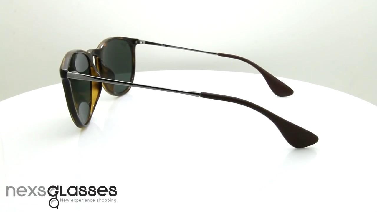 แว่นกันแดด RAY-BAN ERIKA CLASSIC RB4171F 710 71 54 - YouTube befdceb107