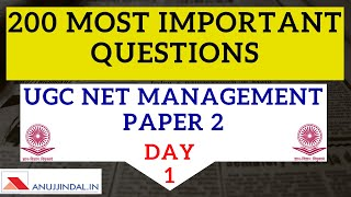 UGC NET Management December 2019 200 Most Important Questions Organization Behaviour Day 1