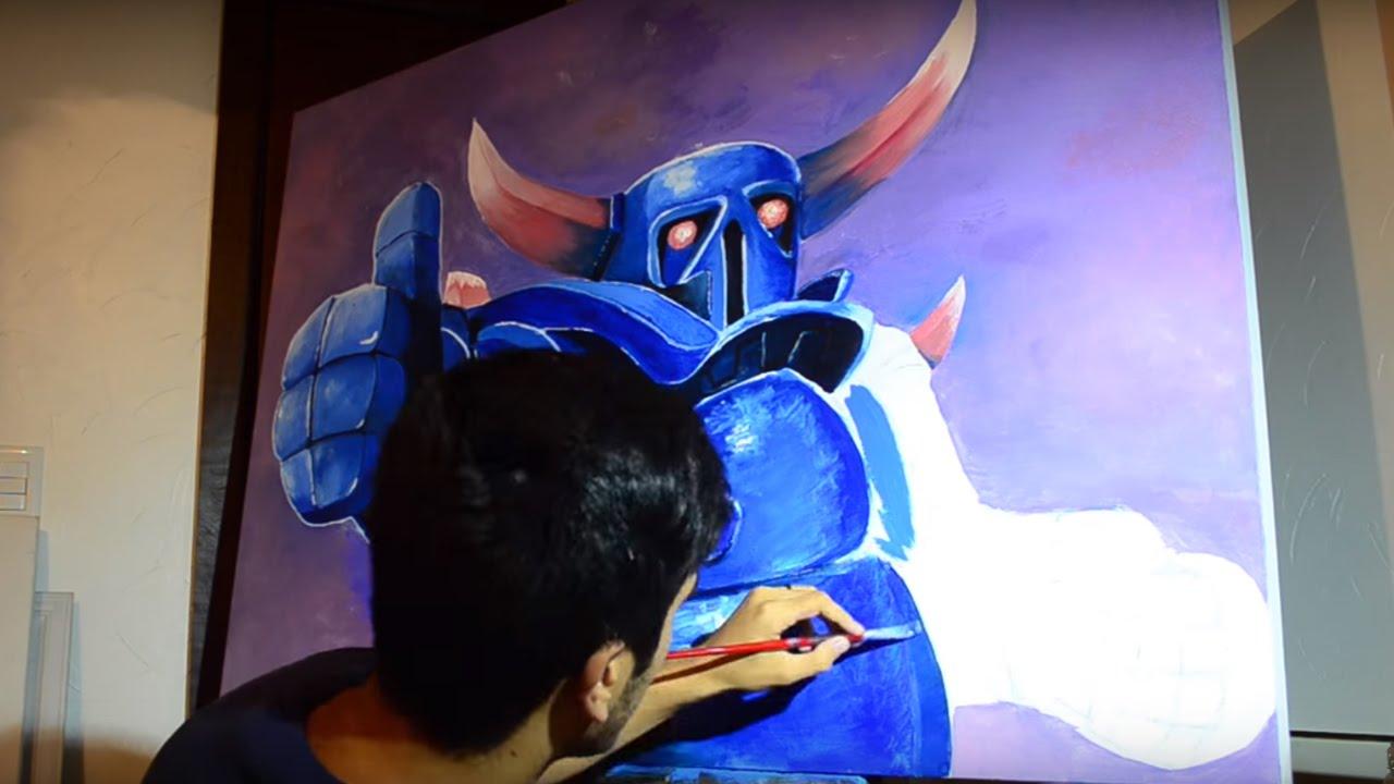 Pintando A Pekka Painting Pekka Clash Royale Clash Of Clans