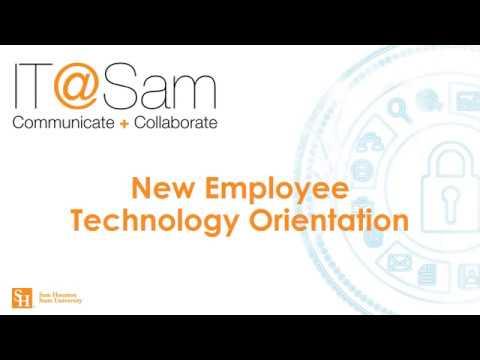 New Employee Technology Orientation
