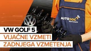 Vgradnja zadaj levi desni Vzmeti VW GOLF V (1K1): brezplačne video
