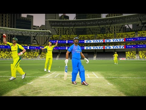 India vs Australia - 1st T20 Match - Don Bradman Cricket 17