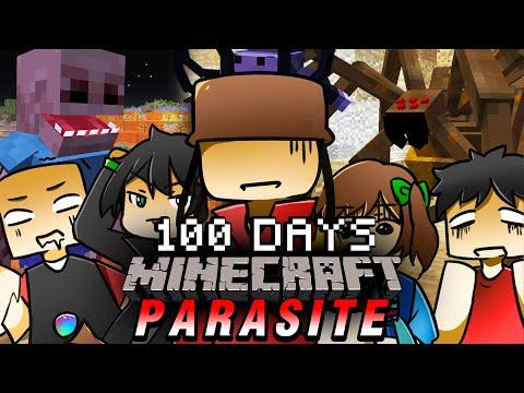 จะเกิดอะไรขึ้น!! เอาชีวิตรอด 100 วันในโลกแห่งปรสิตกับเพื่อน 5 คน   Minecraft Parasite