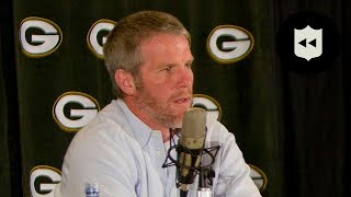 Brett Favre's FIRST Retirement Press Conference! | NFL Throwback