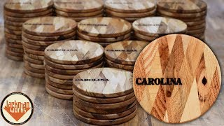 Pallet Wood Coasters with Diamond Pattern (100 of them!)