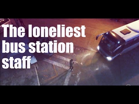 [Life story] The loneliest bus station staff,who work alone for 15 years (2016)