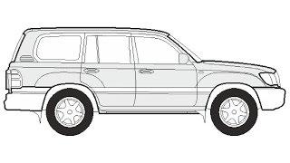 How to Draw a Toyota Land Cruiser 500 / Как нарисовать Toyota Land Cruiser 500