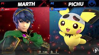 Marth vs Pichu patch 8.0.0 day 1 Quickplay
