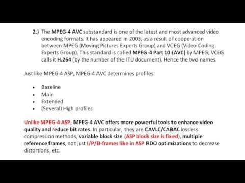 MPEG-4 ASP and AVC what is the difference