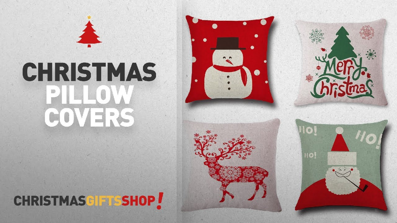 Top Christmas Pillow Covers Ideas 4 PackBPFY Print SnowmanChristmas